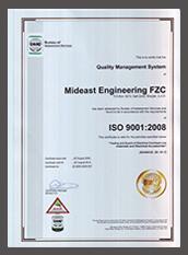 ISO 9001:2008 | Mideast Engineering FZC